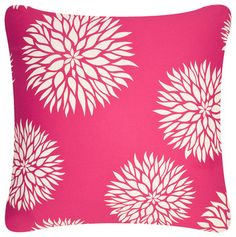 Dahlia Eco Pillow, Cream/Ruby Pink, With Insert - Contemporary - Pillows - Wabisabi Green