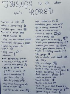 Things to do when you& bored - bullet journal ideas - . - Things to do when you& bored – bullet journal ideas – - Things To Do At A Sleepover, Fun Sleepover Ideas, Sleepover Crafts, Sleepover Activities, Sleepover Party, Pot Ennuyé, What To Do When Bored, Things To Do When Bored For Teens, Things To Do At Home