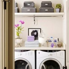 Love the countertop idea for over front load washing machines