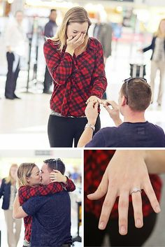 Kristina & Trevor: Congrats to Kristina and Trevor on their recent engagement! We're so honored to have been a part of it. Read all about their love story and Trevor's big surprise airport proposal #HowBostonGetsEngaged #MyLongsRing
