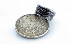 Morgan Silver Dollar Coin Ring U.S. Unique Engagement