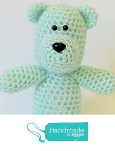 Teddy Bear Stuffed Animal - Crochet Plush Toy from Simply Hooked https://www.amazon.com/dp/B01KIA0XQC/ref=hnd_sw_r_pi_dp_ySN7xbHMHBBTY #handmadeatamazon