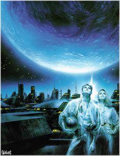 Galería de obras del artista Luis Royo - Gallery of works of the artist Luis Royo Sci Fi Fantasy, Fantasy World, Dark Fantasy, Spanish Painters, Spanish Artists, Dark Paintings, New Retro Wave, Luis Royo, Alien Worlds
