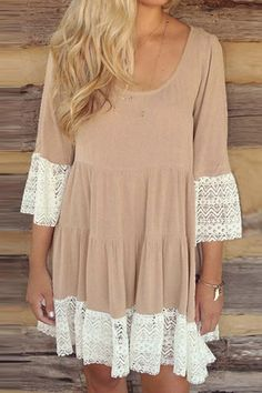 Cupshe Dreaming Girl Lace Dress
