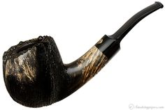 Winslow Partially Rusticated Bent Apple (Viking) Pipes at Smoking Pipes .com