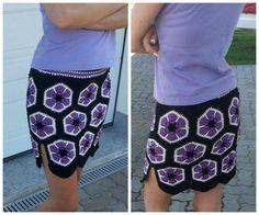 Häkelfieber: Rock 'African Flower' (modified African flower pattern available)