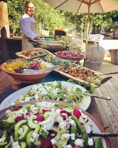 Look at that spread! Executive Chef Josh Drage serves up salads with fresh local ingredients, like snap peas and radishes, grilled broccoli with Tucker Family Farm feta, and Western Montana Growers Co-op beets and kale at our Chef's Grill. We love summer harvest! Photo by Evening Restaurant Manager Katie Forbes