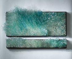 Green glass artwork by shayna leib