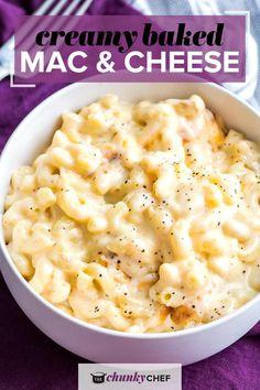 Baked Mac And Cheese Recipe, Creamy Macaroni And Cheese, Mac And Cheese Homemade, Side Dish Recipes, Veggie Recipes, Wine Recipes, Veggie Food, Good Food, Yummy Food