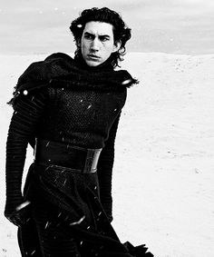 Adam Driver as Kylo Ren in The Force Awakens Photograph by Annie Leibovitz ©