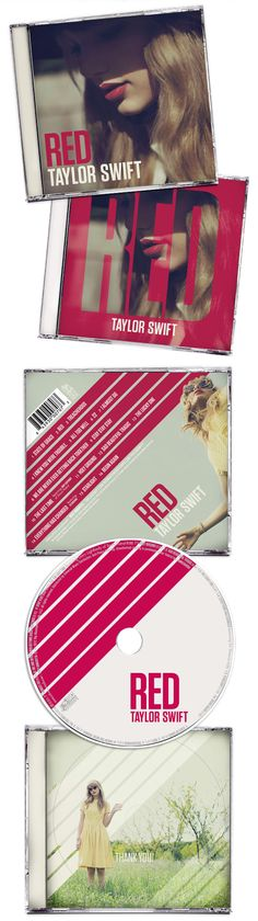 Taylor Swifts red album design
