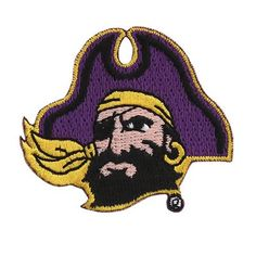 East Carolina Pirates Embroidered Team Logo Collectible Patch