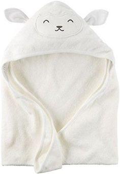Carter's Hooded Bath Towel - Ivory Lamb, New