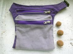 christmas sale Canvas Hip Bag Violet by koatye1 on Etsy