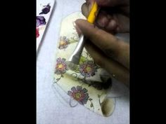 pintura em tecido - YouTube