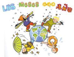 Menta Más Chocolate - RECURSOS y ACTIVIDADES PARA EDUCACIÓN INFANTIL: Imágenes a color de los Meses del Año