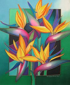 Birds Of Paradise by Maria Rova - Birds Of Paradise Painting - Birds Of Paradise Fine Art Prints and Posters for Sale