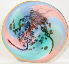 WES HUNTING, CONTEMPORARY ART GLASS BOWL