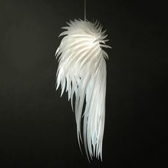 designer pendant light Picture - More Detailed Picture about Modern Pendant Lamp Romantic Angel Wings PVC Feather hanging lights bedroom restaurants Bar design lamp pendant lighting Picture in Pendant Lights from Foshan Bonita Lighting Co.