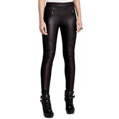 Bcbgmaxazria Skinny Faux Leather Motorcycle in Black