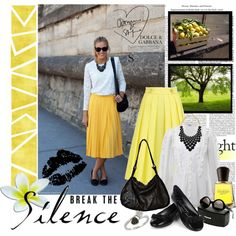 Not a fan of the skirt in yellow. Maybe blue or maroon. Really like the modest style of it all though.