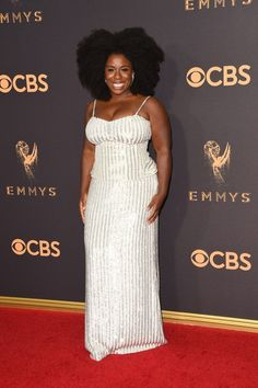 Silver sequins dominated the red carpet this year at the Emmy awards: