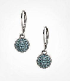 MINI PAVE DISC DROP EARRINGS at Express $14.90
