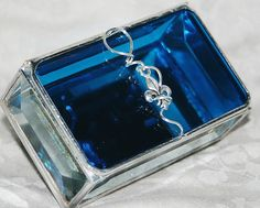 Stained Glass Box Peacock Blue ~ look at this royal blue color. Fab!