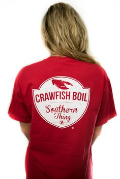64bbe6b491 Crawfish Boil | Short Sleeve Pocket T-Shirt Crawfish Pie, Crawfish Party,  Seafood