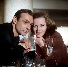 Bestselling author Anthony Horowitz is currently writing a new novel about James Bond temptress Pussy Galore. Pictured: Honor Blackman as the famous Bond girl alongside Sean Connery in Goldfinger (1964)