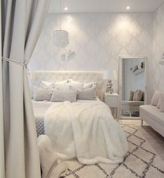 Neutral Room Models for Children - Home Fashion Trend White Room Decor, Room Decor Bedroom, Bedroom Ideas, Dream Rooms, Dream Bedroom, Master Suite Bedroom, Comfy Bedroom, Home Room Design, Girl Bedroom Designs