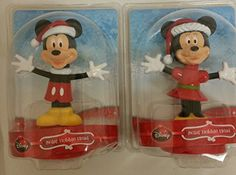 Mickey and Minnie Holiday Solar Bobble Heads by Disney
