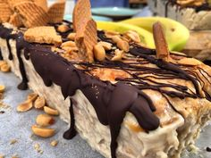 Party Desserts, Frozen Desserts, Sweet Desserts, Banoffee, Greek Recipes, Ice Cream, Cookies, Food, Big Project