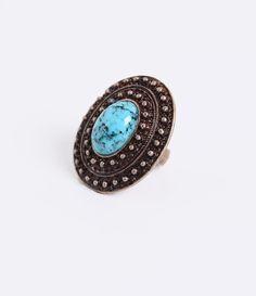 Anél de bijuteria      Rústico      Com pedra