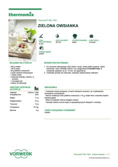 Zielona owsianka Matcha, Make It Simple, Food And Drink, Drinks, Cooking, Breakfast, Diet, Pork, Thermomix