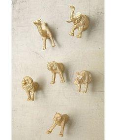 Plastic animal magnets