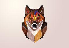 Justin M. Maller • Art Director & Illustrator • Online Portfolio, Autumnal Wolf