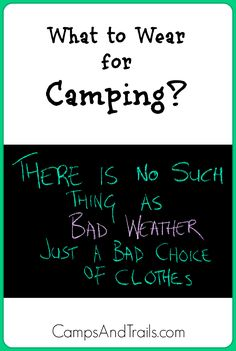 What to Wear for Camping