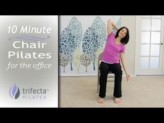 'Core Fitness' Chair Pilates Workout - Abdominal Exercise for Seniors, Chair Exercise - YouTube