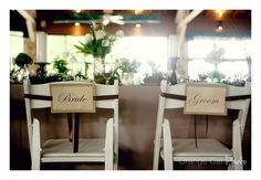bride + groom tags