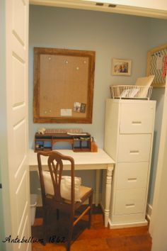 How to Turn a Junky Closet into a Home Office