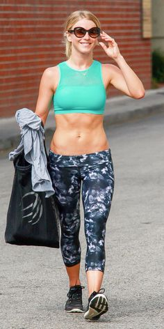No Sweat! What Chic Celebrities Wear to the Gym - Julianne Hough from InStyle.com