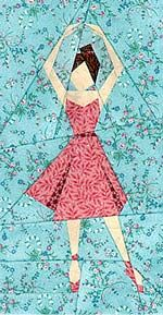 Ballerina Paper-Pieced Quilt Block Pattern at Paper Panache  --- Love this site! Great designs and not difficult if you take one step at a time.