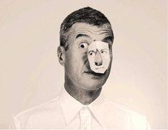 Maurizio Cattelan as Steinberg. Is playing with himself is playing to be another? Milan, Ferrari, Smart Art, Portraits, Artist Life, Italian Artist, Medium Art, Contemporary Artists, Modern Art