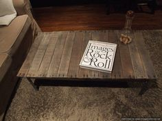 Rail Road Track Coffee Table by ArtistandCarpenter on Etsy, $225.00