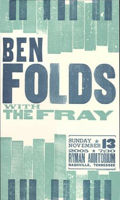 If ever Ben Folds tours again with The Fray and I am not there, I will be heartbroken.
