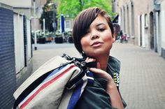 kiss kiss! streetstyle, bag, military jacket, h neon necklace, flag, spring