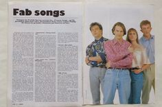 Found on ebay, a French article with a picture I didn't know. Paddy talks about his favourite songs.