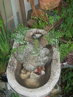 Hypertufa fountain / planter