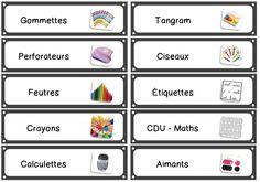 Plein d'étiquettes pour ordonner la classe ! Téléchargement gratuit :-)